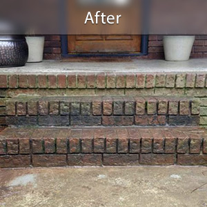 Sinking stairs repaired with PolyLevel® Charleston
