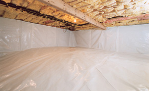 Crawl Space Moisture Barrier After in Columbia
