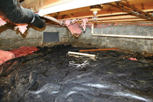 Crawl Space Repair Before in Charleston