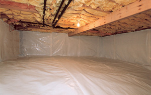 CleanSpace® vapor barrier after in Columbia