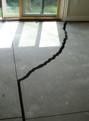 severely cracked foundation slab floor in Piedmont