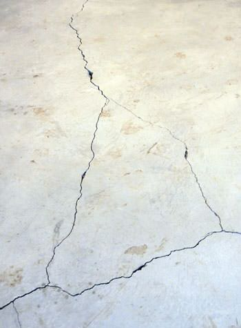 severely cracked, heaving slab floors in a home in Irmo