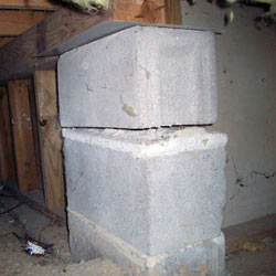 Collapsing crawl space support pillars Irmo