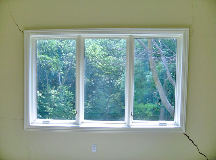 A Long Diagonal That Begins At Window Corner Of West Columbia Home