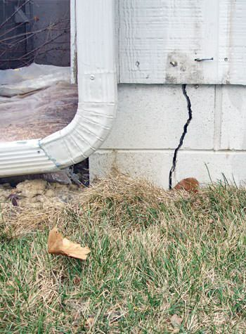 foundation wall cracks due to street creep in Irmo