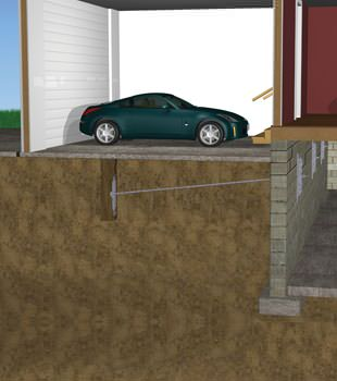 Graphic depiction of a street creep repair in a Piedmont home