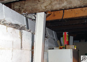 Repairing Amp Straightening Tilting Foundation Walls By
