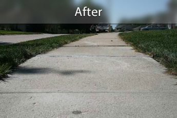 Fixing sunken concrete with PolyLevel® in Charleston