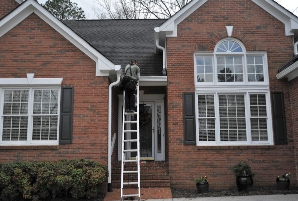 Gutter installation in Simpsonville