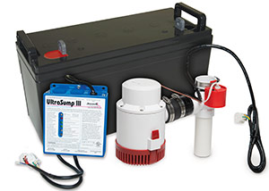 a battery backup sump pump system in Summerville